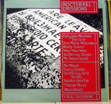 NOCTURNAL EMISSIONS - Viral Shedding LP (JAMS 33) (4iB Records)