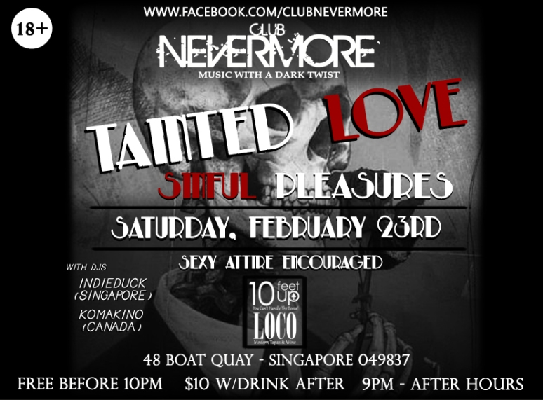 Tainted Love - Nevermore 23rd Feb (Flyer) copy